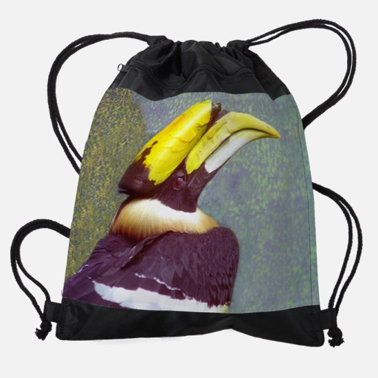hornbill  head  9.5x8.png Drawstring Bag