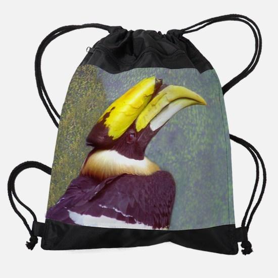 hornbill  head  11.5x9.png Drawstring Bag