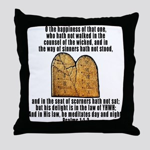 Law of YHWH Throw Pillow