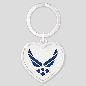 U.S. Air Force Logo Heart Keychain