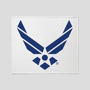 U.S. Air Force Logo Throw Blanket