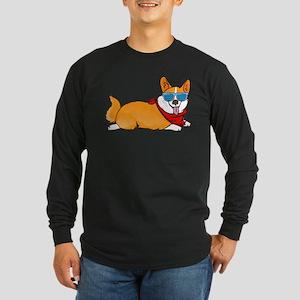 Corgi with sunglasses Long Sleeve T-Shirt