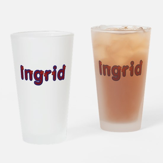 Ingrid Red Caps Drinking Glass