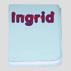Ingrid Red Caps baby blanket