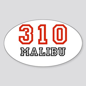 310 Oval Sticker