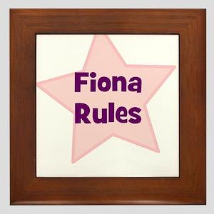 Fiona Rules Framed Tile