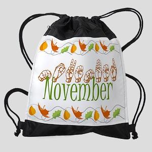 nov copy Drawstring Bag