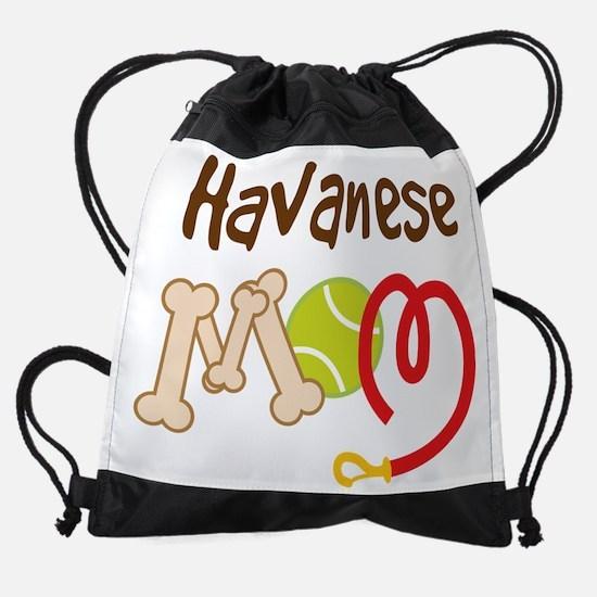 havanese mom leash.png Drawstring Bag