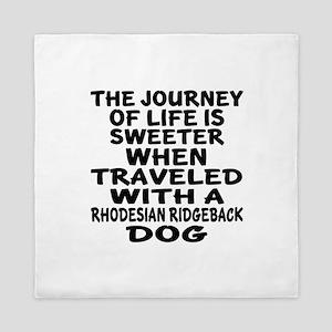 Traveled With Rhodesian Ridgeback Dog Queen Duvet