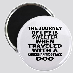Traveled With Rhodesian Ridgeback Dog Desig Magnet