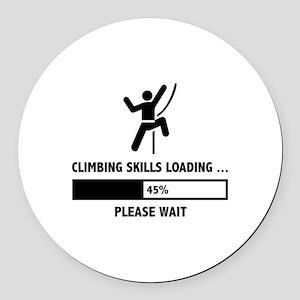 Climbing Skills Loading Round Car Magnet
