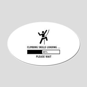 Climbing Skills Loading 22x14 Oval Wall Peel