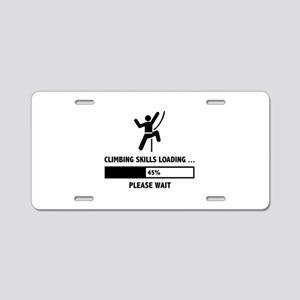 Climbing Skills Loading Aluminum License Plate