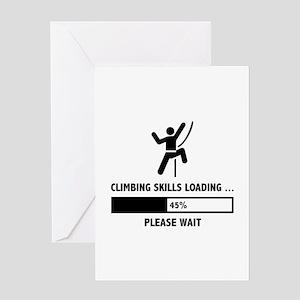 Climbing Skills Loading Greeting Card