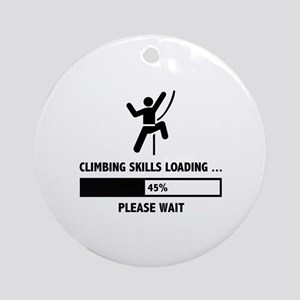Climbing Skills Loading Ornament (Round)