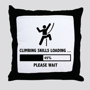 Climbing Skills Loading Throw Pillow