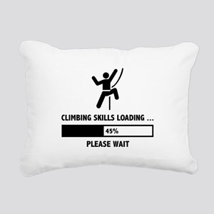 Climbing Skills Loading Rectangular Canvas Pillow