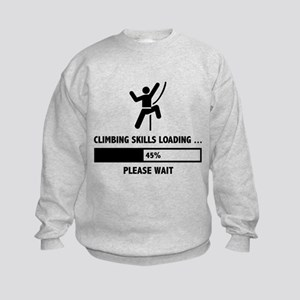 Climbing Skills Loading Kids Sweatshirt