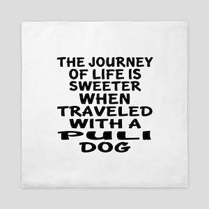 Traveled With Puli Dog Designs Queen Duvet