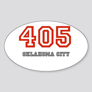 405 Oval Sticker