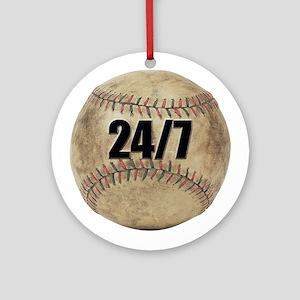 Baseball Nuts Ornament (Round)