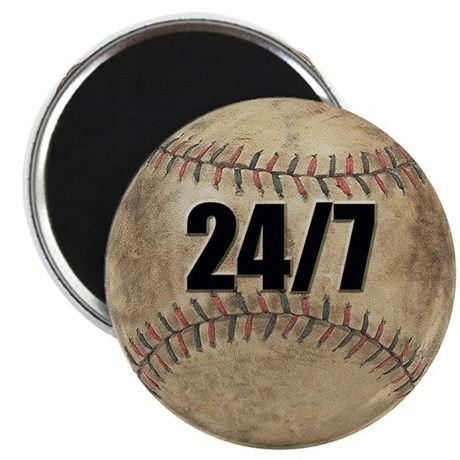 """Baseball Nuts 2.25"""" Magnet (10 pack)"""