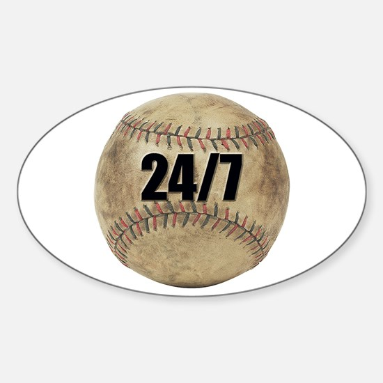 Baseball Nuts Oval Decal