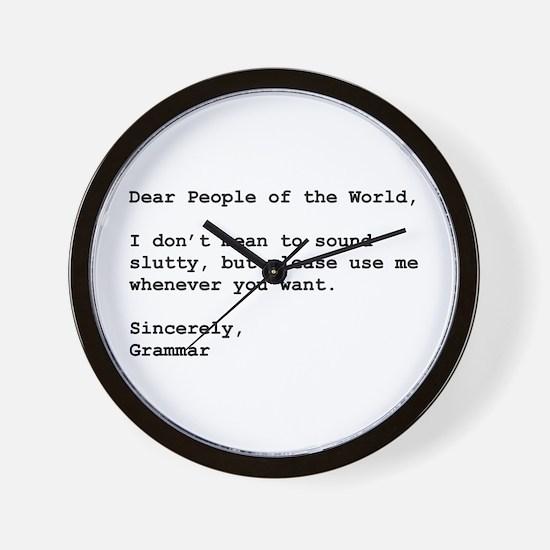 Use Grammar Wall Clock