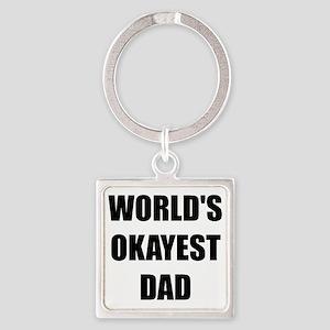 Worlds Okayest Dad Keychains