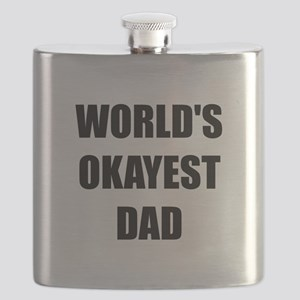 Worlds Okayest Dad Flask
