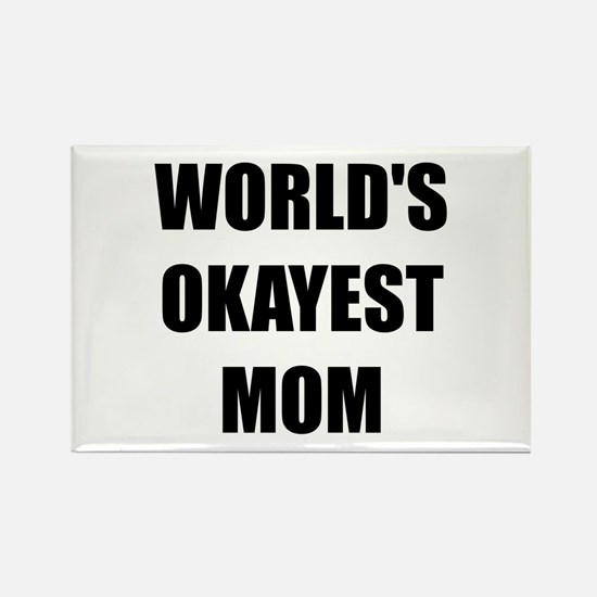 Worlds Okayest Mom Rectangle Magnet (10 pack)