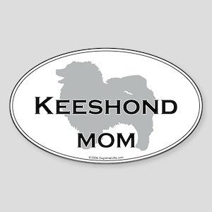 Keeshond MOM Oval Sticker