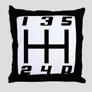 5-speed logo Throw Pillow