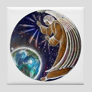 Angel Earth Guardian Tile Coaster