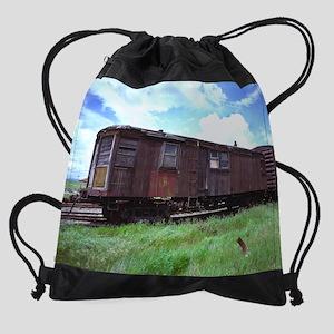 side tracked   11.5x9 Drawstring Bag