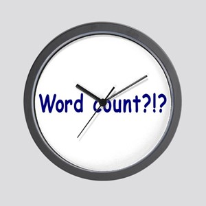 Writing Word Count Wall Clock