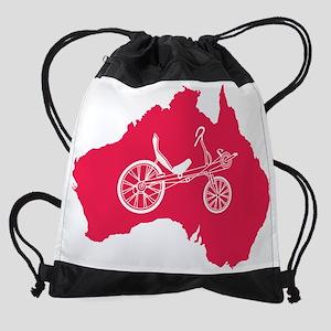 australia.recumbent Drawstring Bag