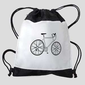 australia.bicycle.white Drawstring Bag