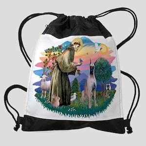 The Saint - Great Dane (fawn) Drawstring Bag