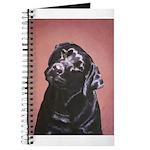Black Labrador Retriever Portrait Journal