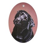 Black Labrador Portrait Keepsake Ornament
