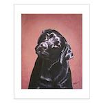 Black Labrador Retriever Portrait Small Poster