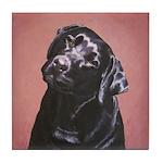 Black Labrador Retriever Portrait Tile Coaster