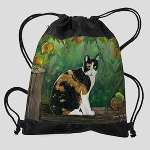 calico11_5x9 Drawstring Bag