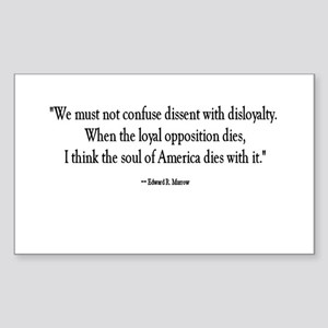 Dissent and Disloyalty Rectangle Sticker