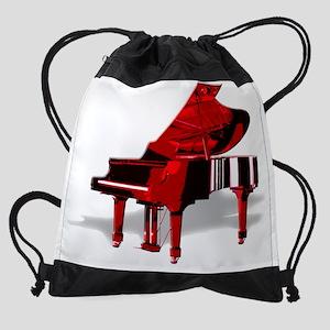 Red Piano Drawstring Bag