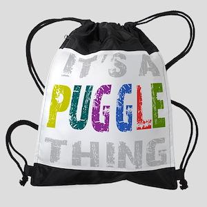 pugglething_black Drawstring Bag