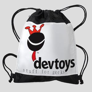 devtoys-logo-white-shirt Drawstring Bag