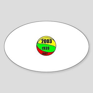 Lithuania Euro Champs Oval Sticker