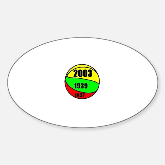Lithuania Euro Champs Oval Decal